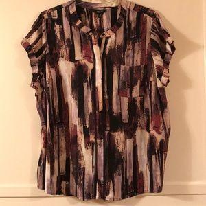 Simply Vera Wang Abstract Blouse 2X